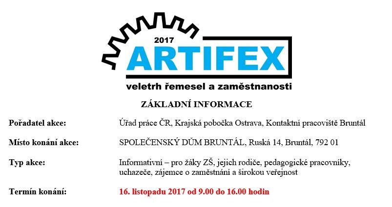 veletrh řemesel a zaměstnanosti ARTIFEX Bruntál - Granitol a.s. e82eb1d430
